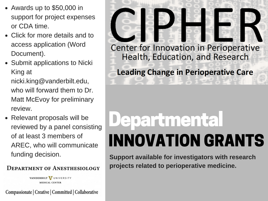 CIPHER Innovation Grant Announcement