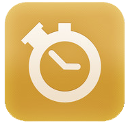 BabyTime icon showing a stopwatch on a gold background