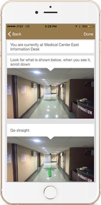screen shot of walkways showing photo directions