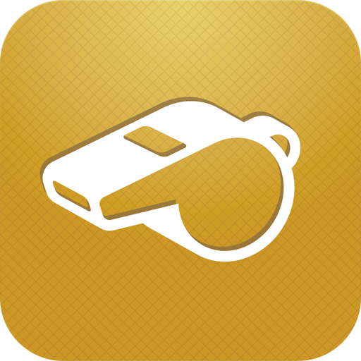 Coachsmart app icon showing a whistle on a gold background