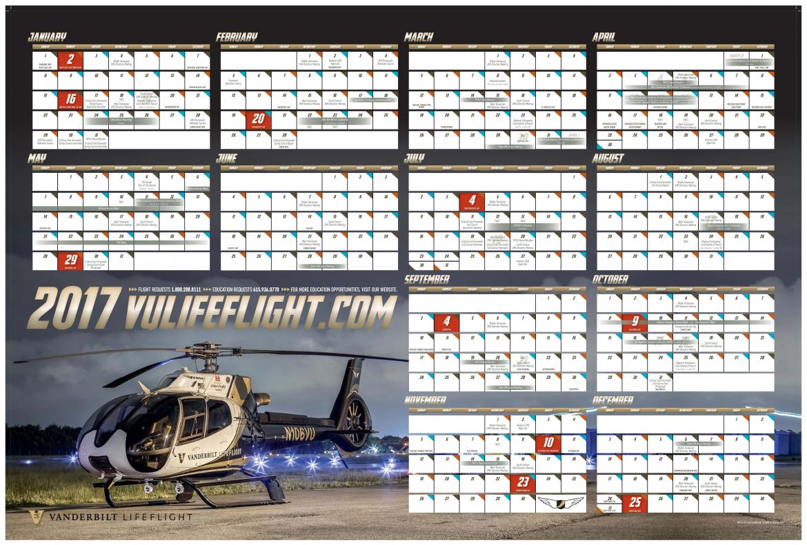 2017 LifeFlight Wall Calendar