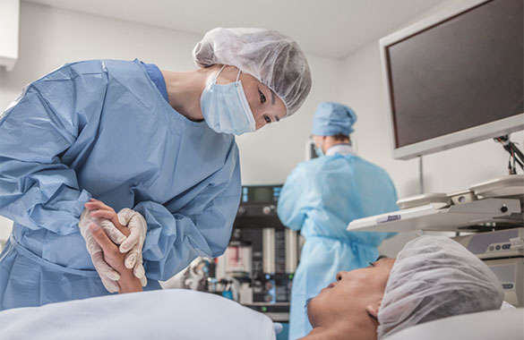 surgery holding hands