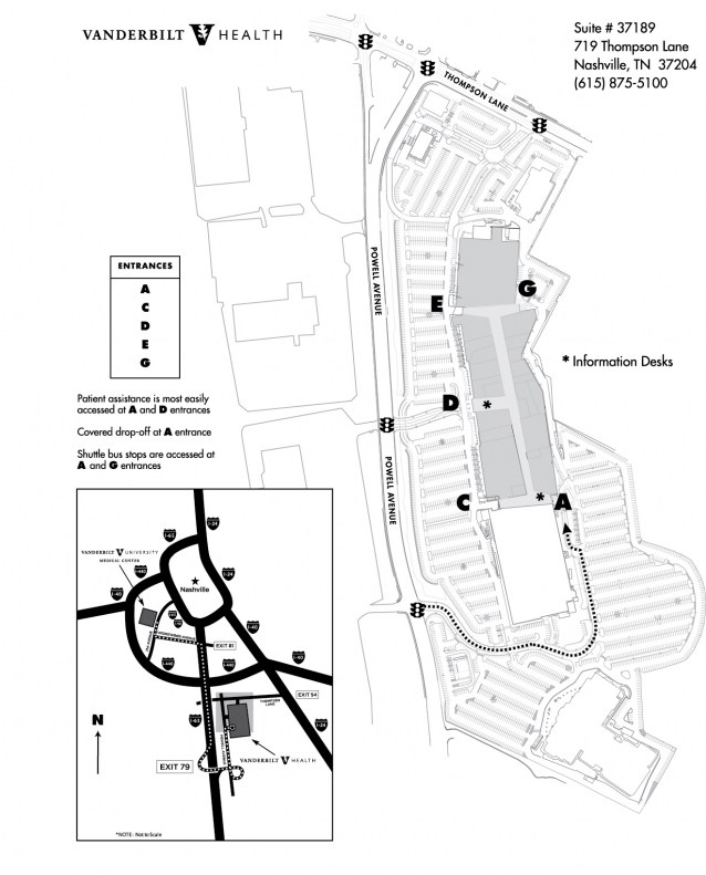 parking layout map of One Hundred Oaks