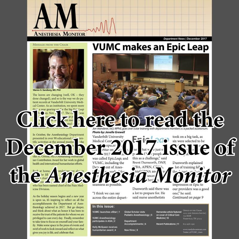 Summer 2017 Anesthesia Monitor