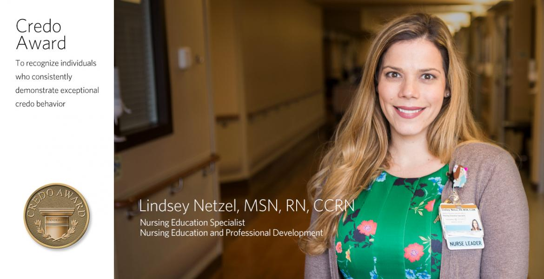 Lindsey Netzel - VUMC Credo Winner