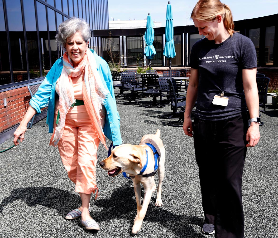 Facility dog helps rehabilitate patients with neurologic diagnoses
