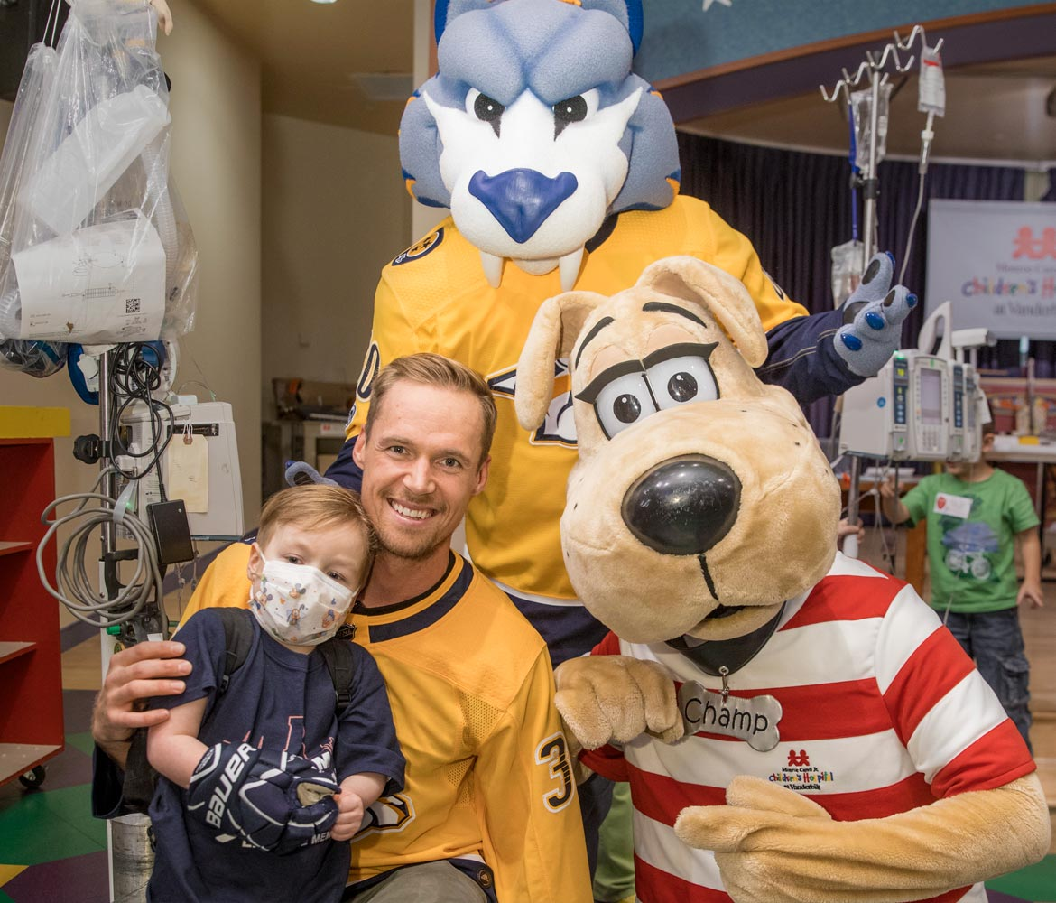 Predators' fund powers fight against childhood cancer