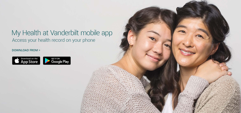 My Health at Vanderbilt mobile app