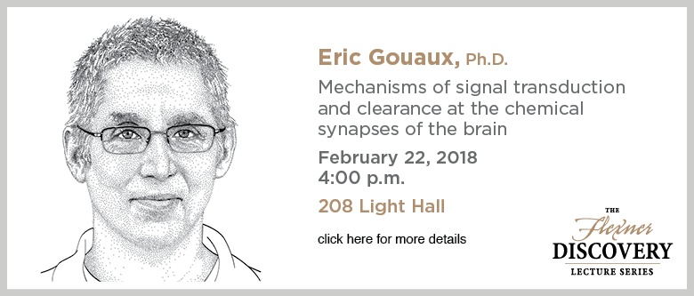 Discovery Lecture Series — Eric Gouaux, PhD — February 22, 2018