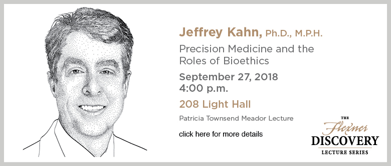 Discovery Lecture Series - Jeffrey Kahn, Ph.D. - September 27, 2018