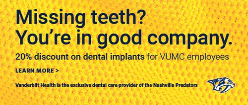 20% Discount on dental implants for VUMC employees