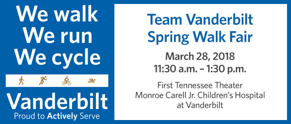 Team Vanderbilt Spring Walk Fair
