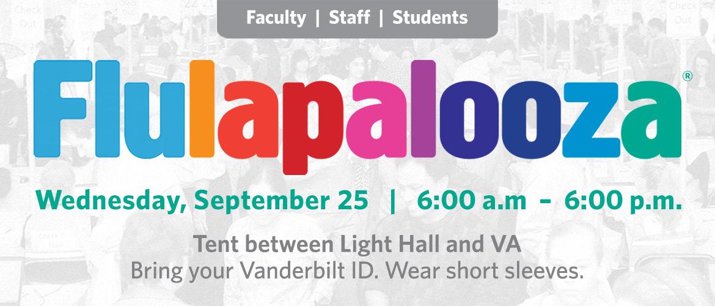 Flulapalooza 2019 – Wednesday, September 25, 6 a.m. - 6 p.m.