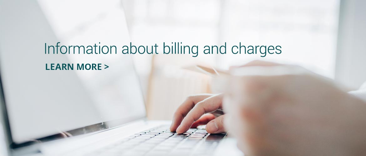 Information about billing and charges