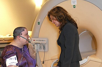 patient and mri with megan strother