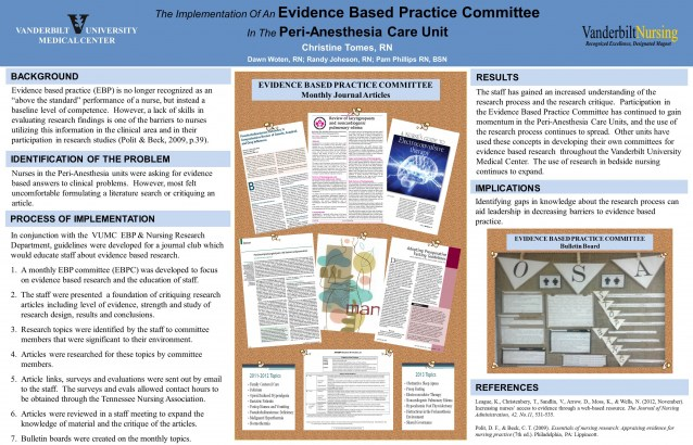 evidence based practice and nursing research - sample posters, Presentation templates