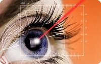 Lasik laser, eye image
