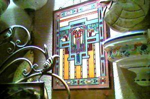 glass wall piece