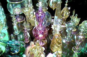 various egyptian glass pieces
