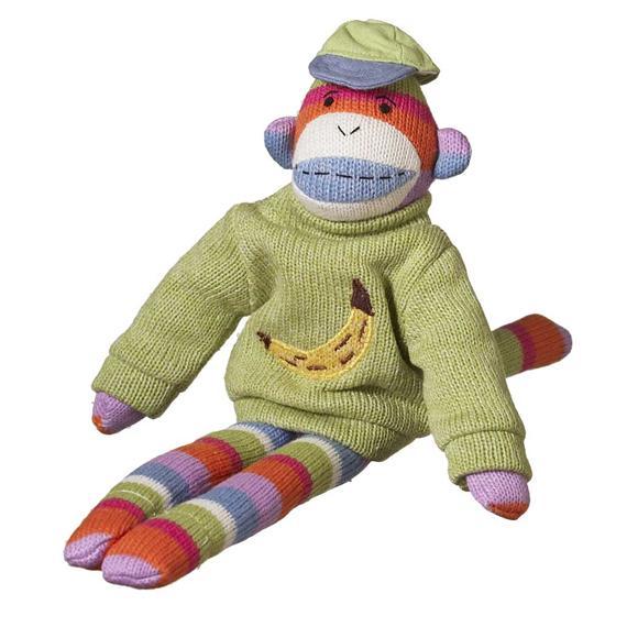 ball player sock monkey