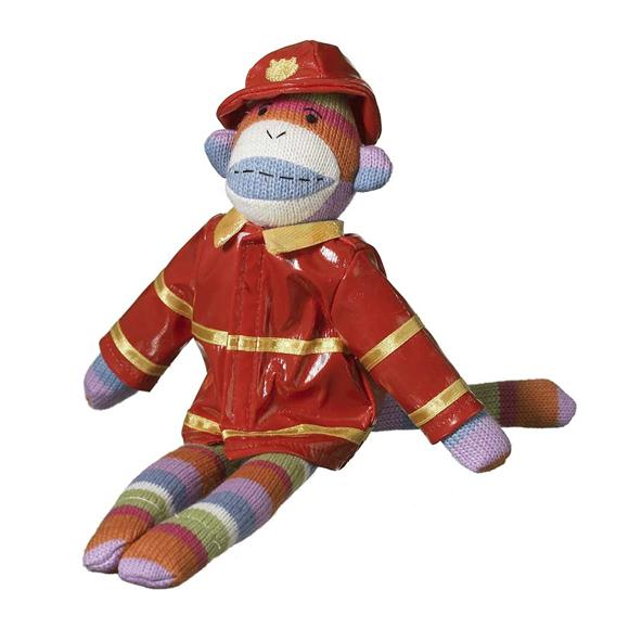 firefighter sock monkey