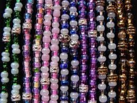 colorful beaded lanyard straps
