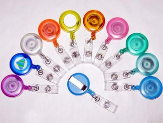 lolipop colored badge reels