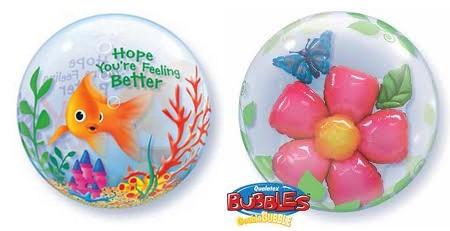fish and ribbons bubble balloons