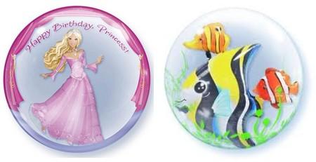 princess and fish bubble balloons