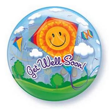 get well soon bubble balloon