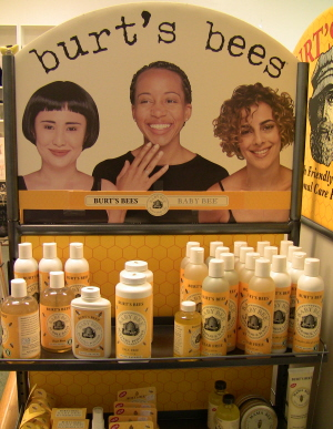 Burt's Bees in store display shelf
