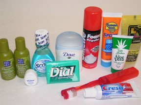 Soap, Shampoo, Mouthwash, tooth brush, tooth paste,Deorderant, shaving cream