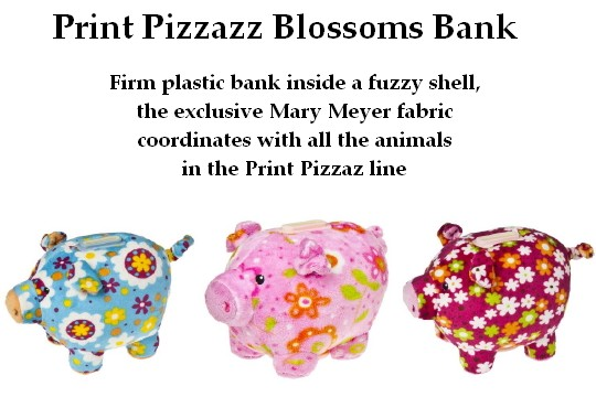 Mary Meyers Print Pizzazz, Blossom Piggy Banks