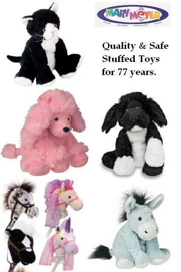 assorted Mary Meyers stuffed animals