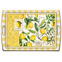 lemons pattern, designer tray