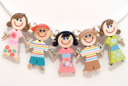 full set of children shaped charms