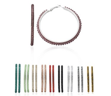 various colored metal bracelets