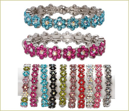 colored crystal bracelets