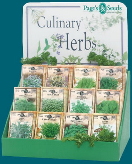Culinary Herbs display
