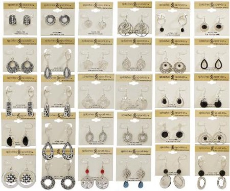 different styles of earrings