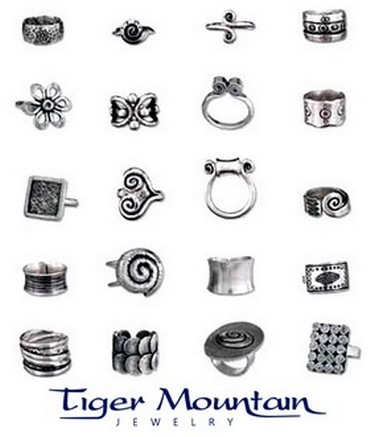 Tiger Mountain Jewelry pieces and logo