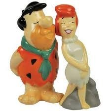 Fred and Wilma Flintsone salt pepper set