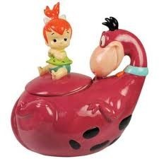 Pebbles and Dino cookie Jar