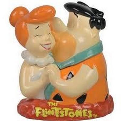 Fred and Wilma Flintone cookie jar