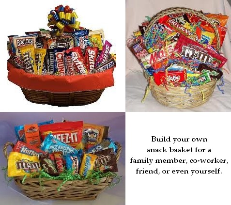 snack baskets, build your own examples