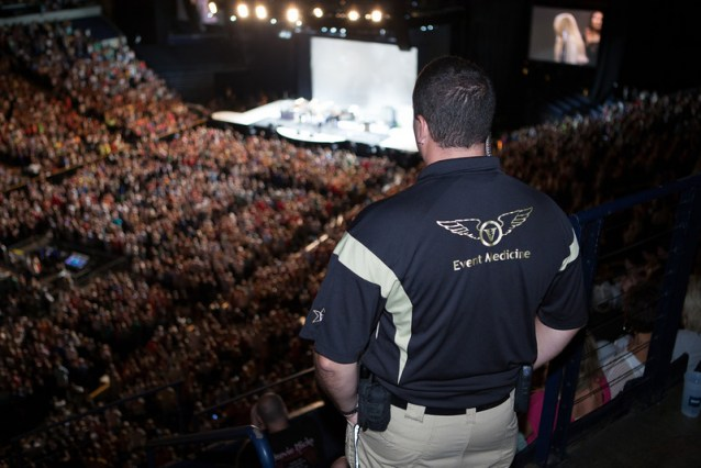 Paramedic working the Rod Stewart concert at Bridgestone Arena