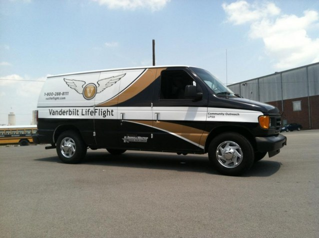 LifeFlight equipment delivery van