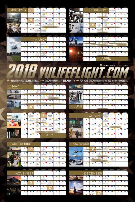 2018 VLF Calendar