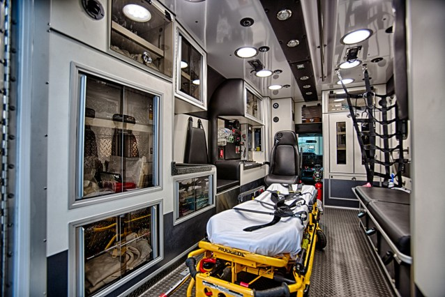 Interior of LF 23, a 2010 AEV Type III Ambulance