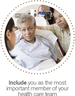 Include you as the most important member of your health care team